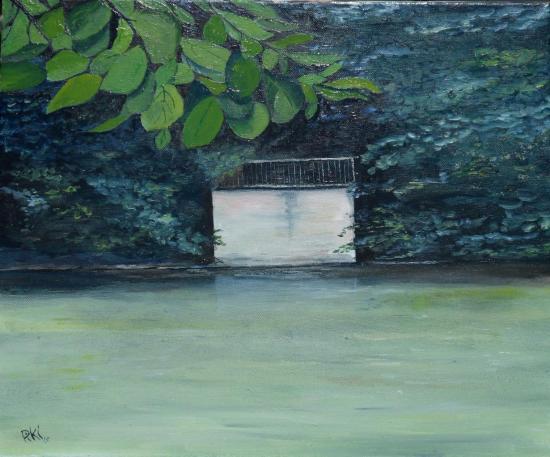 bords du loiret (45X35 cm)