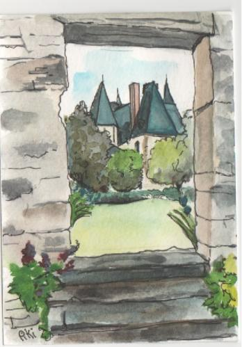 vue du château (14,8 X10,5 cm)
