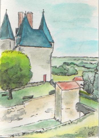 vue du château 2 (14,8 X10,5 cm)