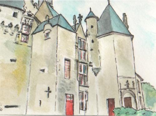 vue du château 3 (14,8 X10,5 cm)