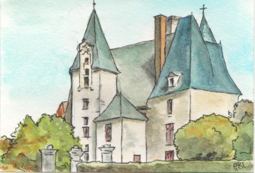 vue du château 5 (10 X 19.5 cm)