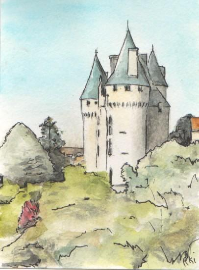 vue du château 6 (10 X 19.5 cm)