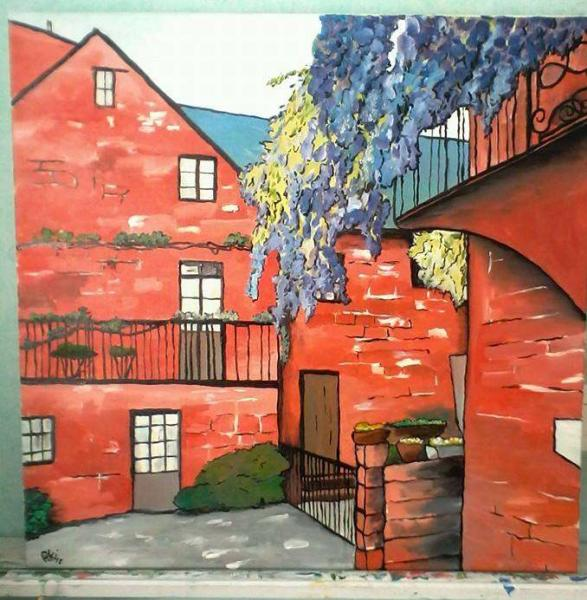 Collonges la rouge (60X60 cm)