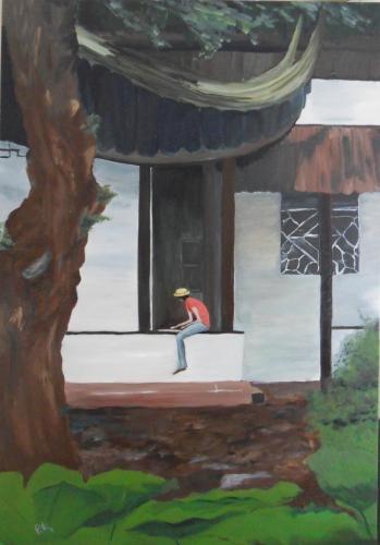 étudiante en art (65X92 cm)