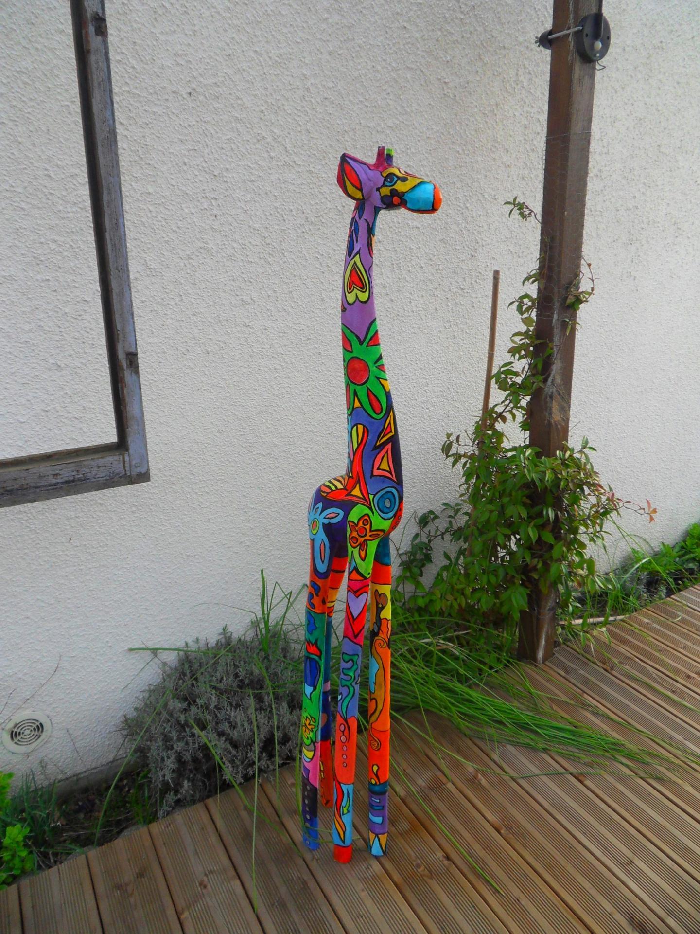 Girafe colorée 2