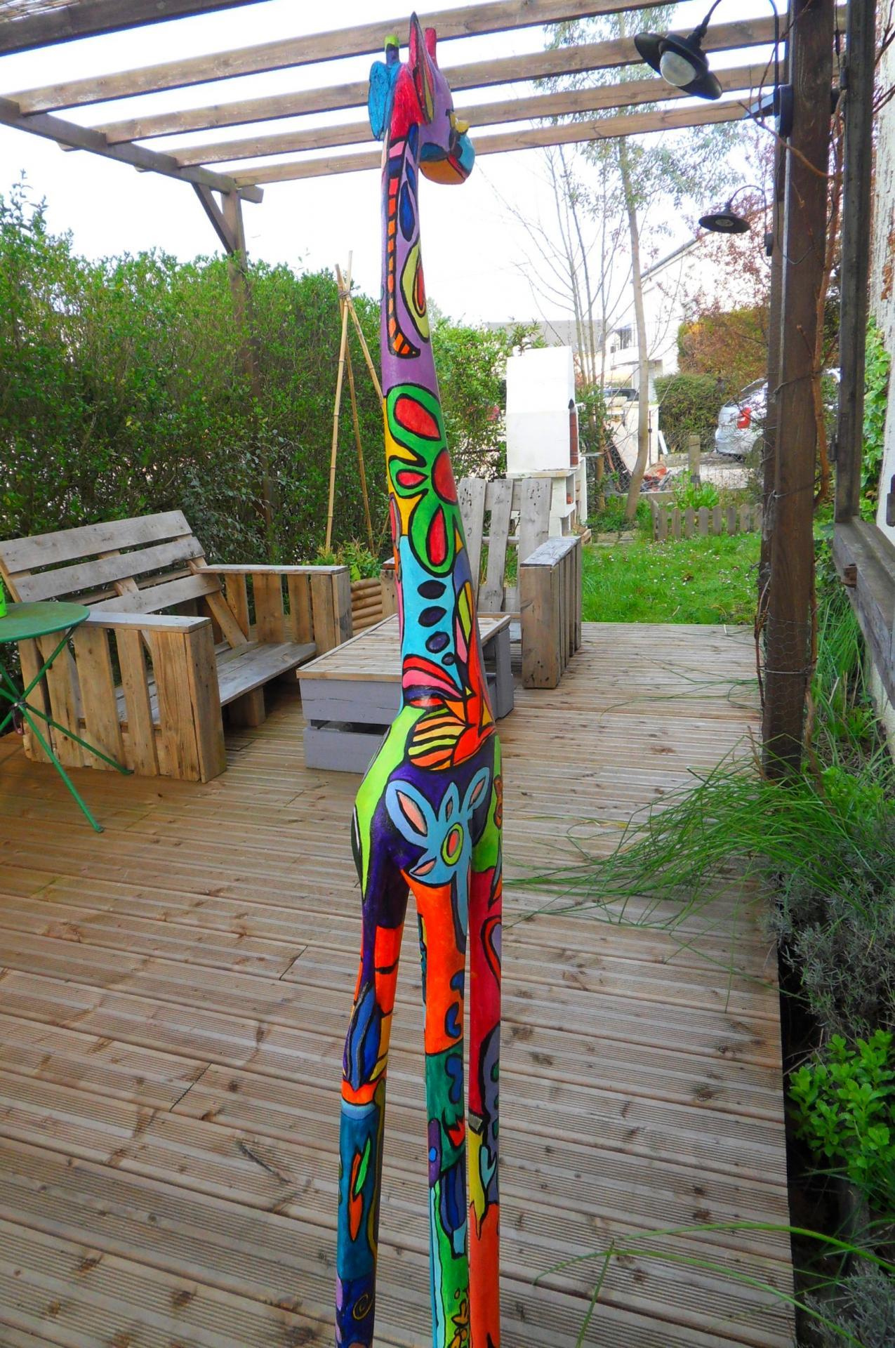 Girafe colorée 3