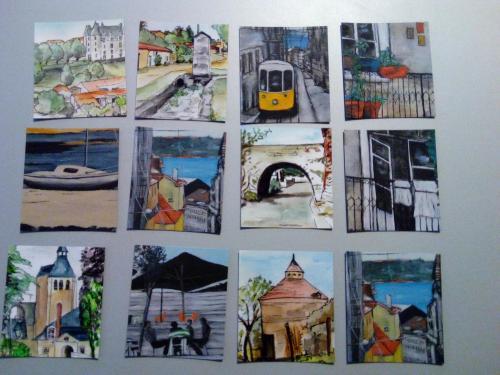 série Magnets d'après mes toiles