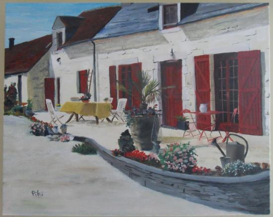 façade fleurie '40X30 cm)