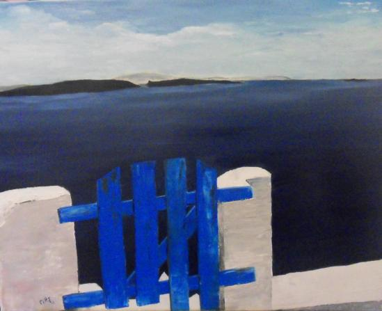 paysage de Grèce (80X65 cm)