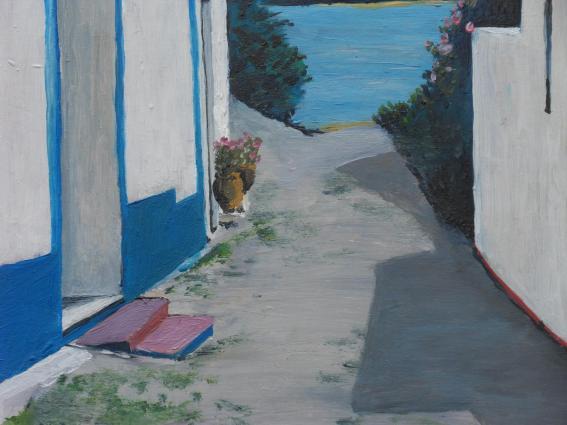 Villanova sur porte detail